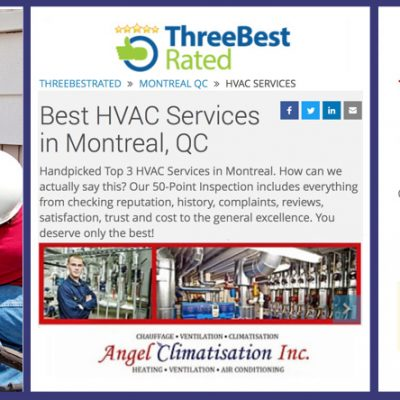 HEATING, COOLING AND VENTILATION SERVICES BY ANGEL CLIMATISATION INC.